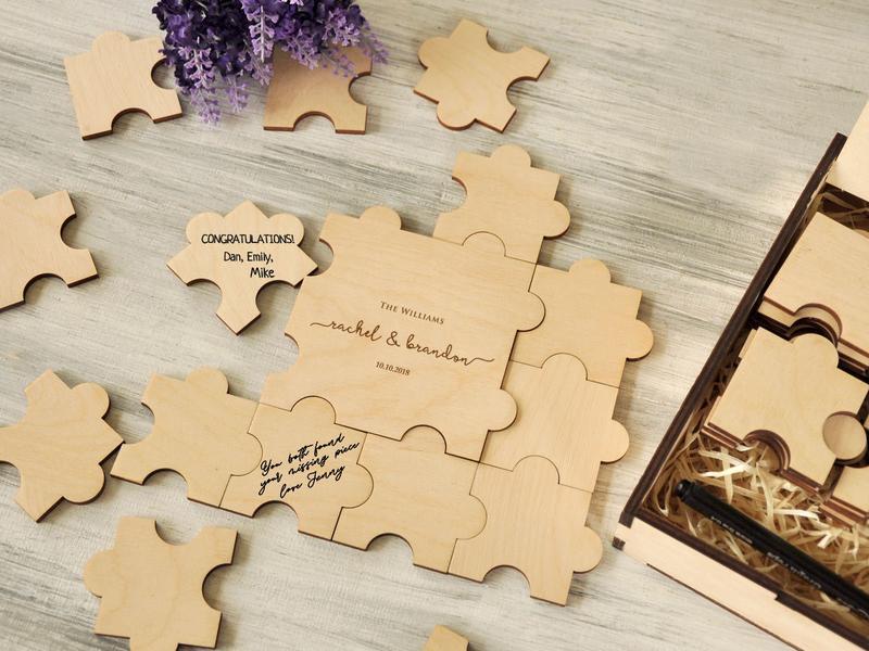Альтернативная гостевая книга, деревянный пазл