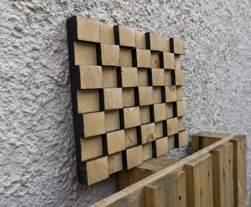Настенный 3D декор из натурального дерева