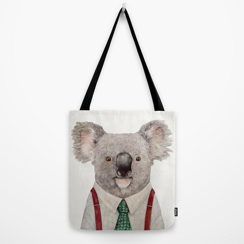 Эко сумка Koala. Сумка из ткани шоппер, тряпичная сумка. Летняя сумка из льна с рисунком Koala