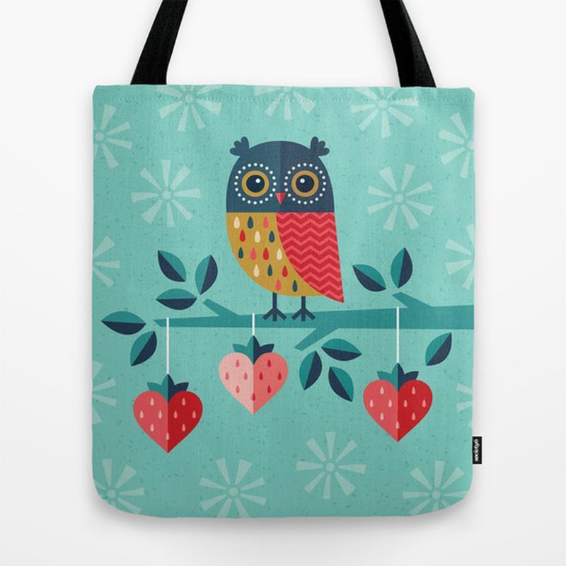 Еко сумка OWL ALWAYS LOVE YOU. Сумка з тканини шоппер, ганчіркова сумка. Літня сумка з малюнком