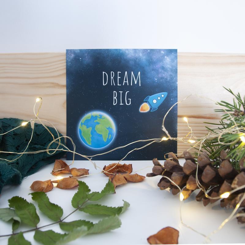 "Открытка ""Dream Big"""