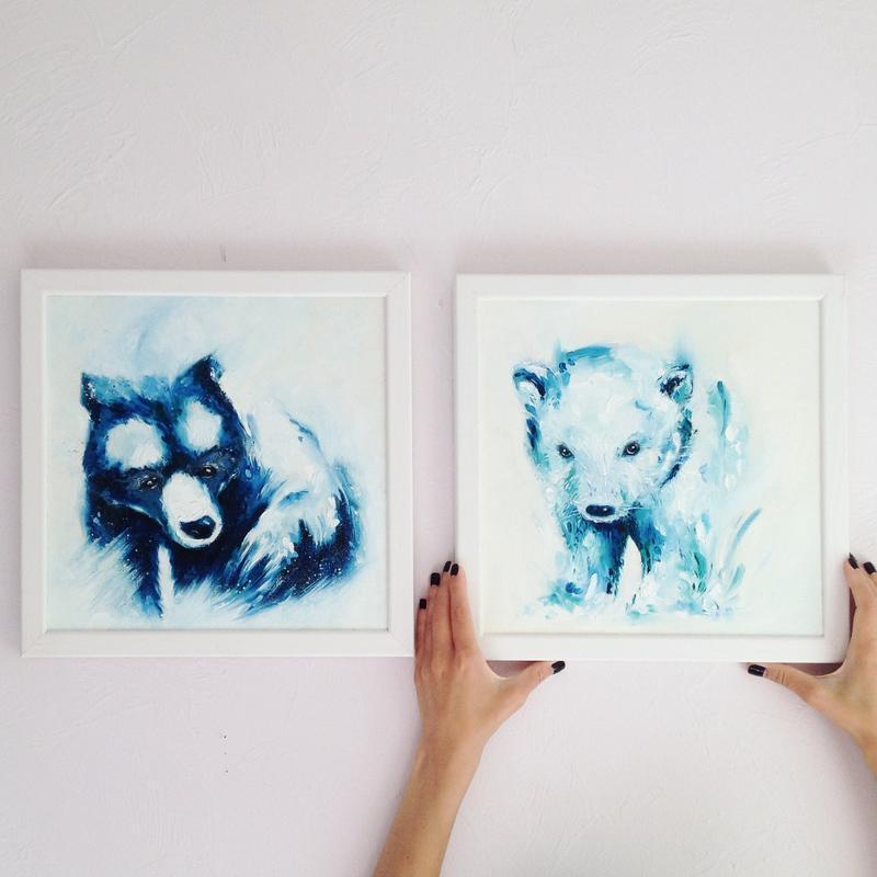 """Картина маслом """"Grizzly"""""""