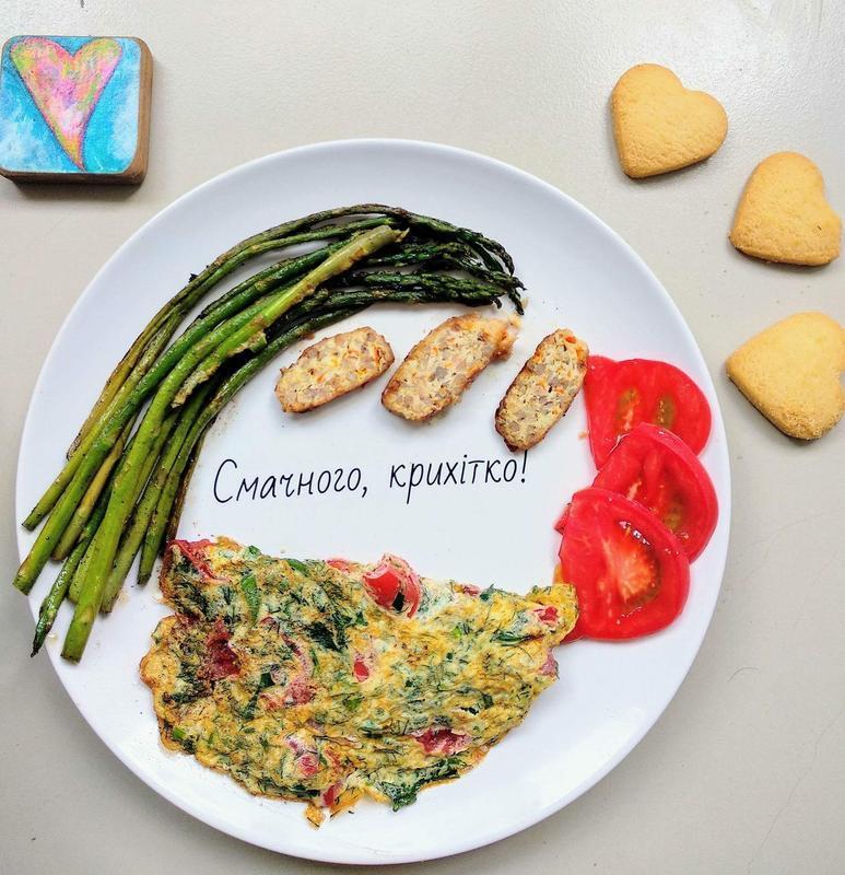 """Тарелка с надписью """"Приятного аппетита"""" на украинском языке"""