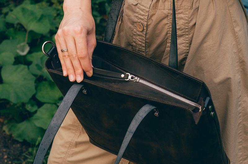 Кожаная сумка шоппер Tote Bag с внутренним отделением на молнии   1_0196_MG1