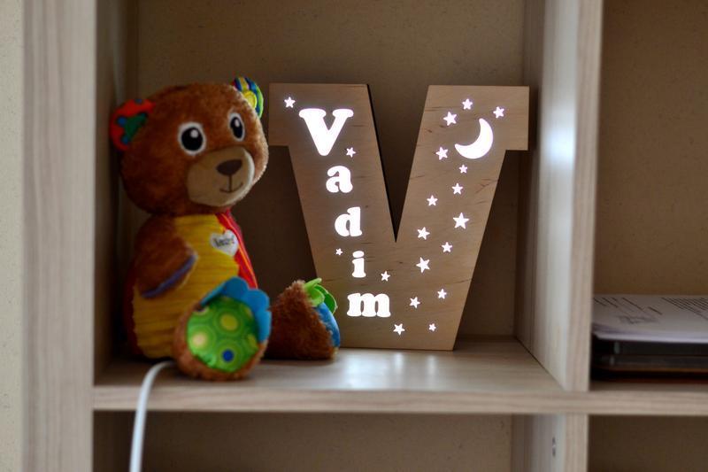 Ночник в детскую комнату из дерева - Vadim