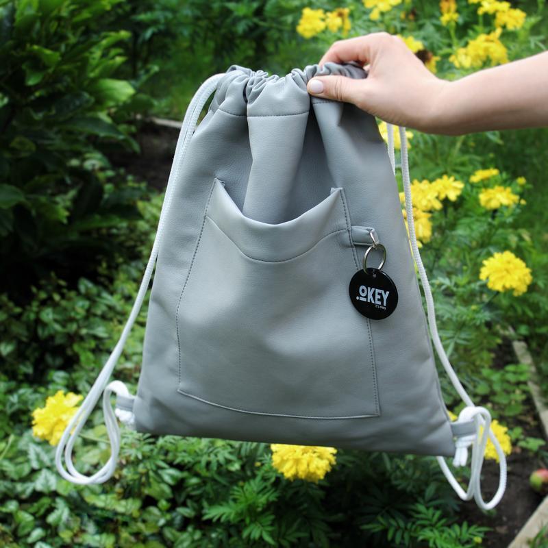 f8f028ba91e7 Рюкзак-мешок серый ручной работы купить в Украине. №266109