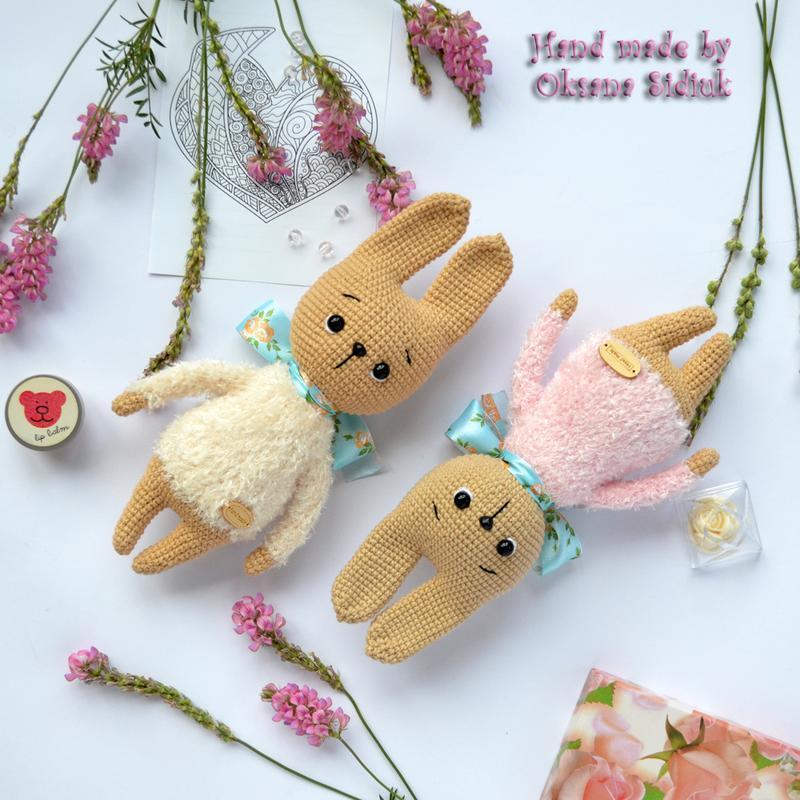 Игрушка зайка Зайчик вязаная Игрушка кролик Вязаный кролик Кролик амигуруми Вязаный зайчик