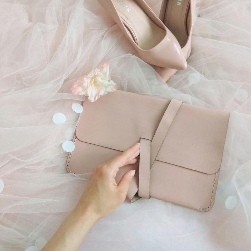 Женская сумка - клатч + Подарок. Кожаный вечерний клатч для девушки, деловой клатч, бизнес-акссесуар