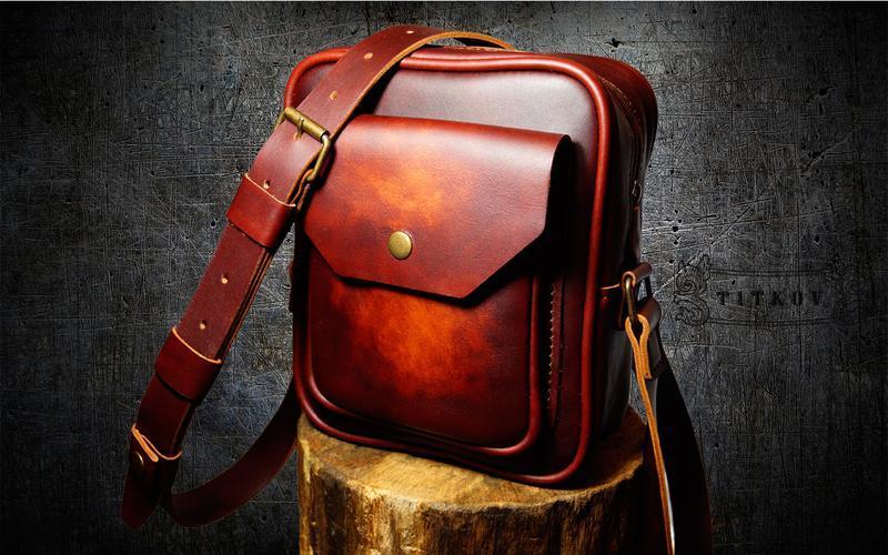 2d92dcc756a5 Кожаная мужская сумка - ELEGANT ручной работы купить в Украине. №108758