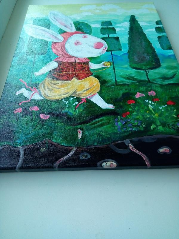 """Картина """"Белый кролик"""""""